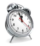 Deadline Countdown. (Metaphor with 3D rendered vintage alarm clock Stock Image