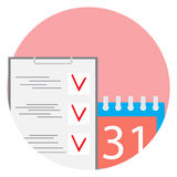 Deadline flat icon vector Royalty Free Stock Photo