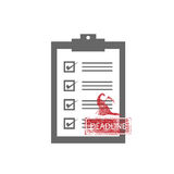 Deadline Grimm Qulaity control check list vector illustration