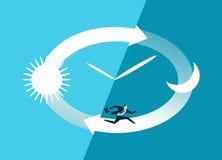 The symbol of the deadline royalty free illustration