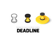 Deadline icon in different style Royalty Free Stock Images