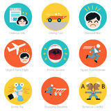 Deadline Icon Set Stock Images