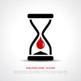 Deadline icon. Deadline idea, vector clip art Royalty Free Stock Photography