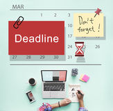 Deadline Note Calendar Planner Concept Stock Photos
