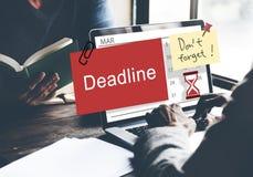 Deadline Note Calendar Planner Concept Royalty Free Stock Images