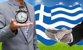 Deadline for pay debt, Greece's Debt Crisis Royalty Free Stock Photography