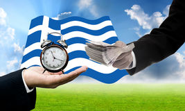 Deadline for pay debt, Greece's Debt Crisis Royalty Free Stock Photos