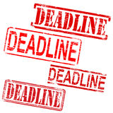 Deadline Rubber Stamps Royalty Free Stock Images