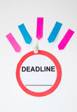 Deadline sign and sticky notes Royalty Free Stock Images