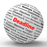 Deadline Sphere Definition Means Job Time Limit. Deadline Sphere Definition Meaning Job Time Limit Or Finish Date Stock Image
