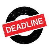 Deadline stamp rubber grunge Royalty Free Stock Images