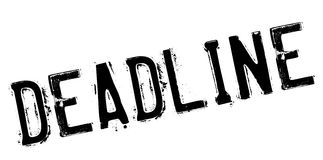 Deadline stamp rubber grunge Royalty Free Stock Photography