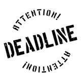 Deadline stamp rubber grunge Stock Photography