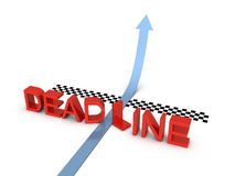 Deadline and success. On the white background Royalty Free Stock Images