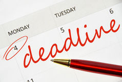 Deadline text Stock Image