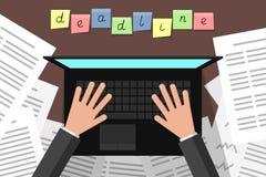 deadline Tijdvullingsdagen stock illustratie