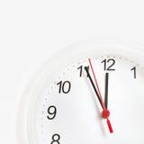 Deadline. Time concept or deadline, white clock Stock Photos
