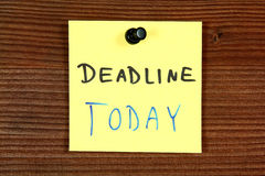 Deadline today Stock Photos