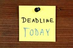 Deadline today Stock Photos
