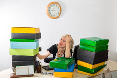 Woman Stressed: Deadline Today Royalty Free Stock Images