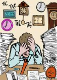 Deadline Too Close Stock Images
