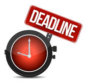 Deadline watch sign Stock Images