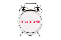 Deadline word on the alarm clock Stock Photos