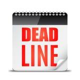 Deadline Word on Calendar Royalty Free Stock Photography