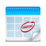 Deadline Word on Calendar Royalty Free Stock Image