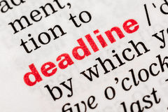 Deadline Word Definition Royalty Free Stock Photography