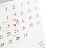 Deadline word written on the calendar Stock Photos