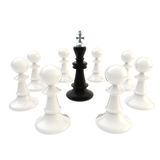 Deadlock black king surrounded with pawns Stock Photo