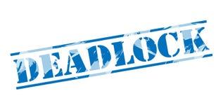 Deadlock blue stamp Stock Photo