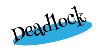 Deadlock rubber stamp Stock Photo