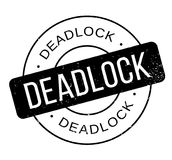 Deadlock rubber stamp. Grunge design with dust scratches. Effects can be easily removed for a clean, crisp look. Color is easily changed Stock Images