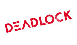 Deadlock rubber stamp Royalty Free Stock Photos