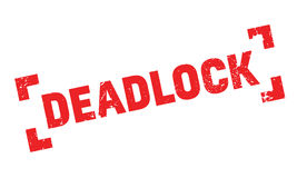 Deadlock rubber stamp Stock Image