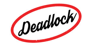 Deadlock rubber stamp. Grunge design with dust scratches. Effects can be easily removed for a clean, crisp look. Color is easily changed Royalty Free Stock Photography