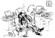 deadly утомлянный менеджер Стоковое Изображение