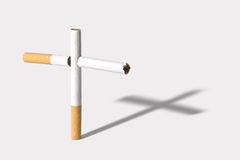 Deadly cigarettes Royalty Free Stock Image
