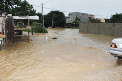 Deadly flood in Ivory Coast Stock Photography