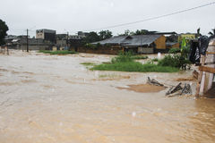 Deadly flood in Ivory Coast Royalty Free Stock Photos