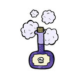 deadly poison bottle cartoon Stock Images