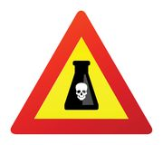 Deadly poison sign Stock Photos
