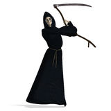 Deadly reaper. 3D rendering of the deadly reaper with clipping path and shadow over white Stock Images