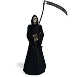 Deadly reaper. 3D rendering of the deadly reaper with clipping path and shadow over white Stock Photo