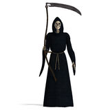 Deadly reaper. 3D rendering of the deadly reaper with clipping path and shadow over white Stock Photography