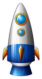 A deadly rocket. Illustration of a deadly rocket on a white background Stock Images