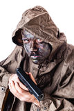 Deadly soldier Stock Image