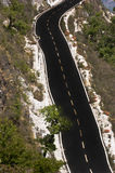 Deadly steep road. Deadly and adventurous steep road on hills Stock Photography